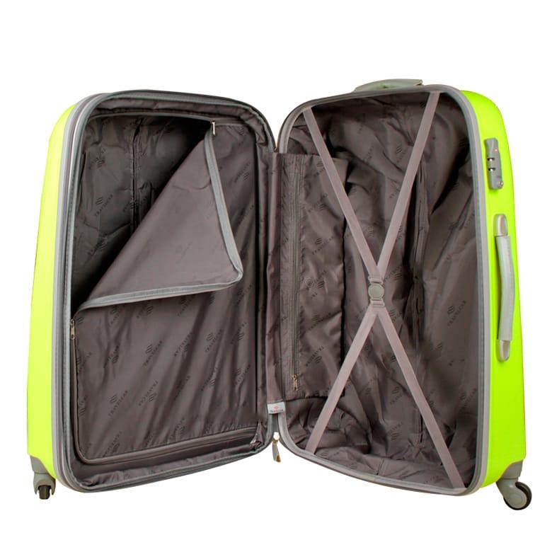Чемодан Travelcar DS2837-L ABS пластик салатовый