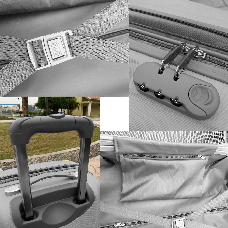 Чемодан Travelcar DS2837-L ABS пластик серый