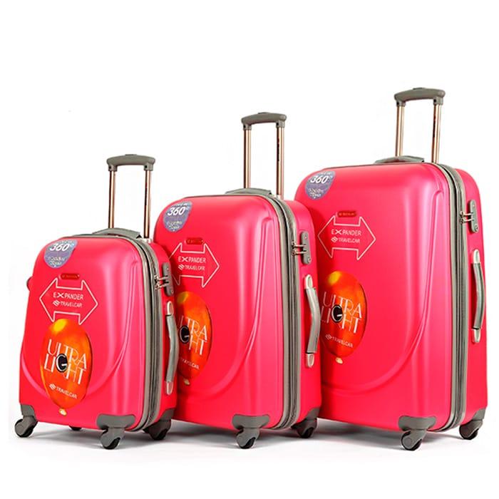 Чемодан Travelcar DS2837-S ABS пластик розовый