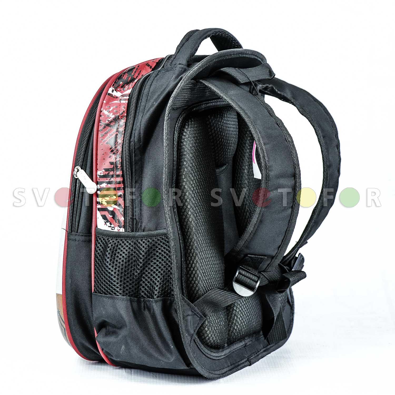Школьный рюкзак ZhiCheng 7961 полиэстер красный