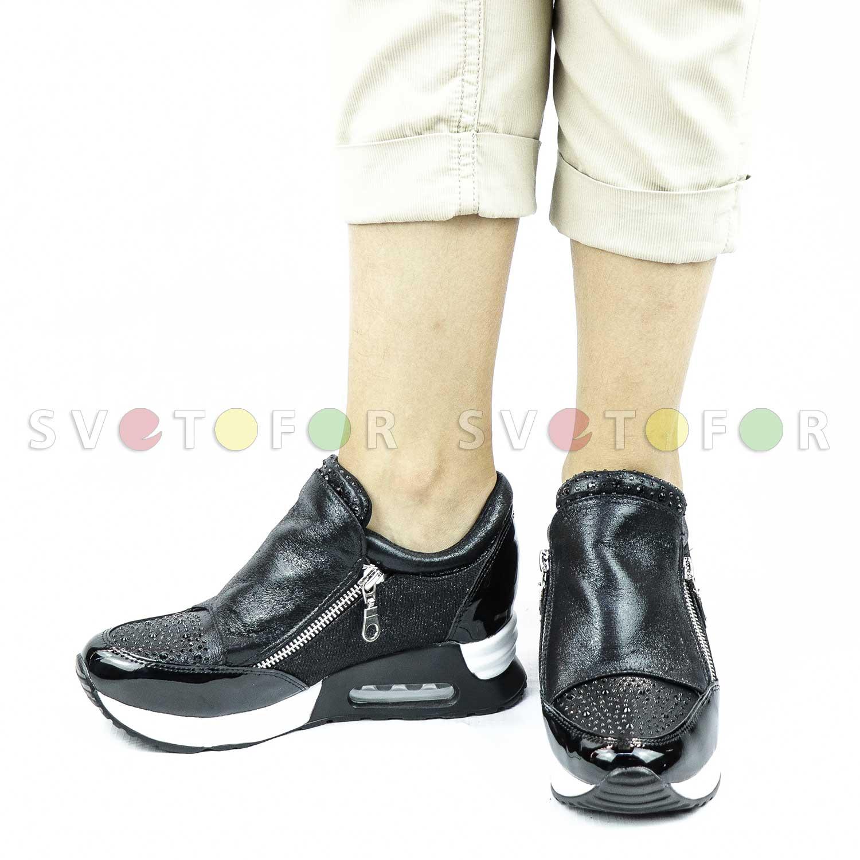 Кроссовки Glamour 9719-7 матерчатые черные