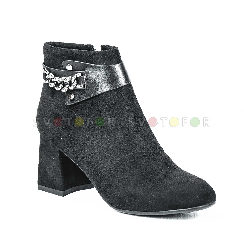 Полусапожки Fashion Party 8336 E61 замшевые черные