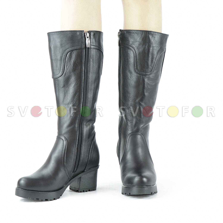 Сапоги SHOES.KG 1209-18 кожаные черные