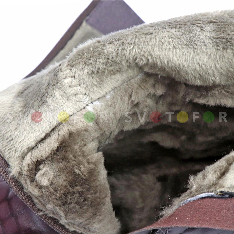 Сапоги Molka 1F209-4500-Y116R кожаные коралловые