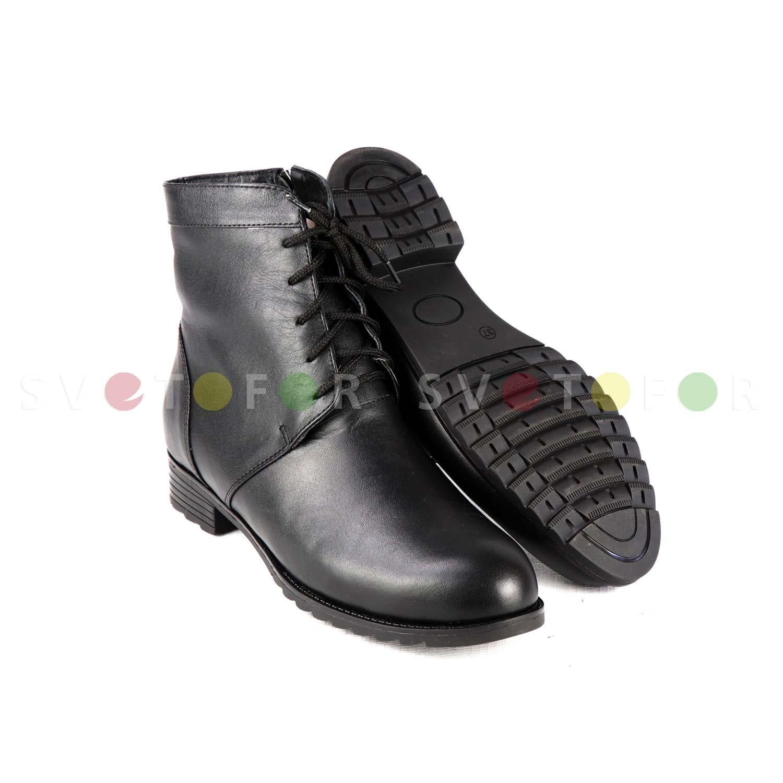 Полусапожки SHOES.KG 103B кожаные черные