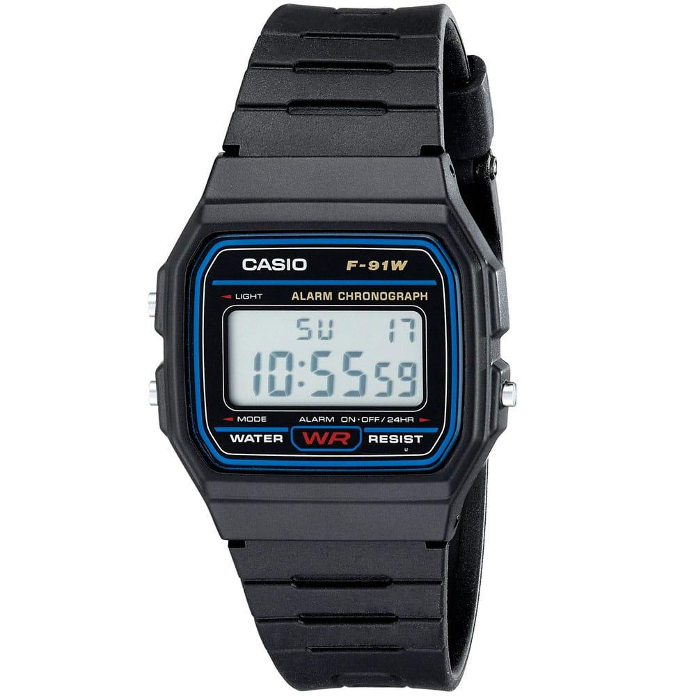 Мужские часы Casio F-91W-1SDG