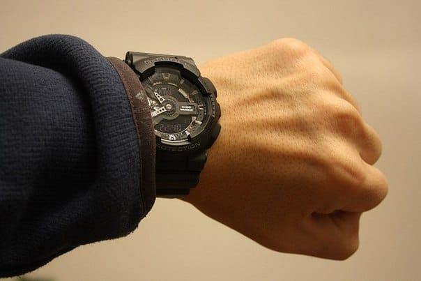 Мужские японские наручные часы Casio G-Shock GA-110C-1A с хронографом