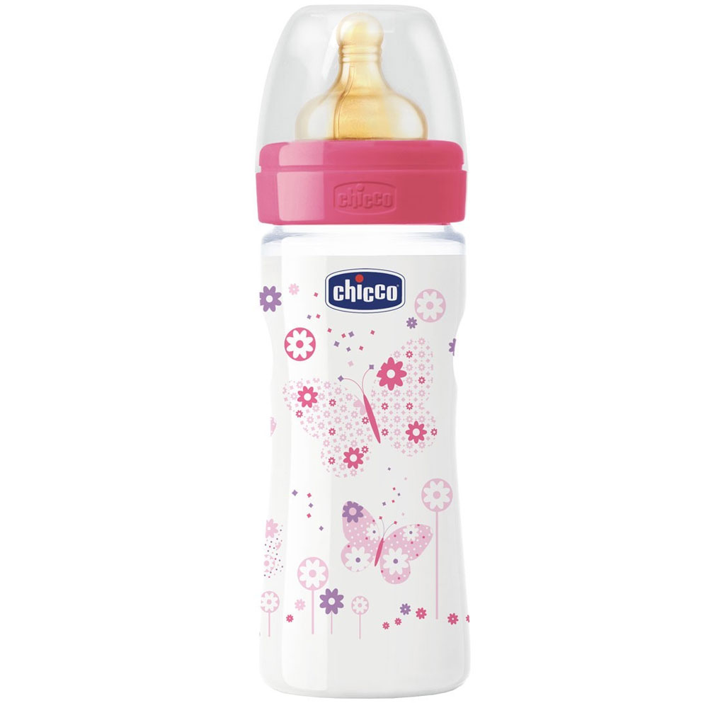 Бутылочка Chicco Wellbeing Feeding, 250мл латекс 707221.0004