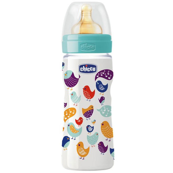 Бутылочка Chicco Wellbeing Feeding, 330мл латекс 707090.0000