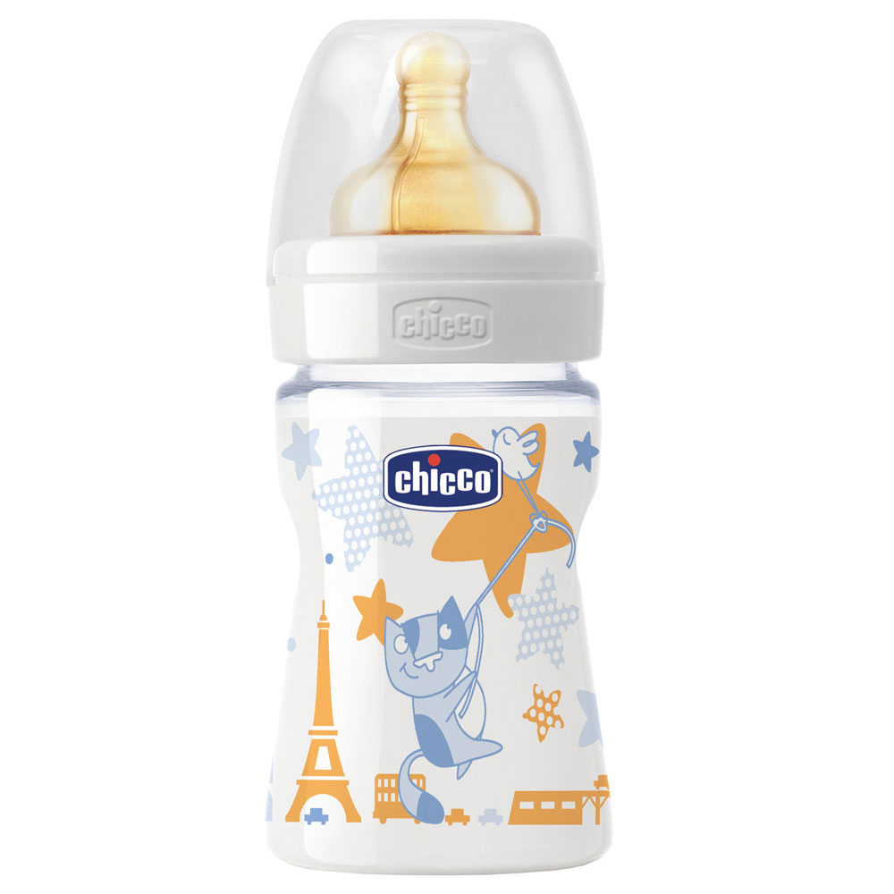 Бутылочка Chicco Wellbeing Feeding Boy, 150 мл 707020