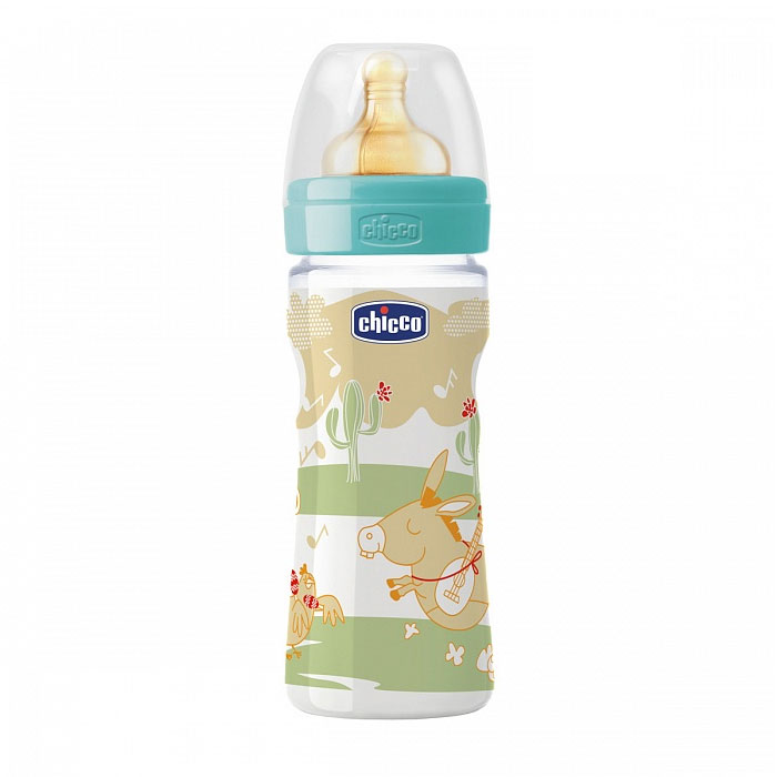 Бутылочка Chicco Wellbeing Feeding Romantic 250 мл, соска латекс 707040