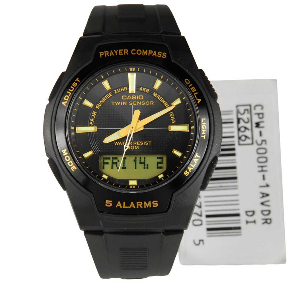 Мужские часы Casio Islamic Prayer CPW-500H-1AVDR