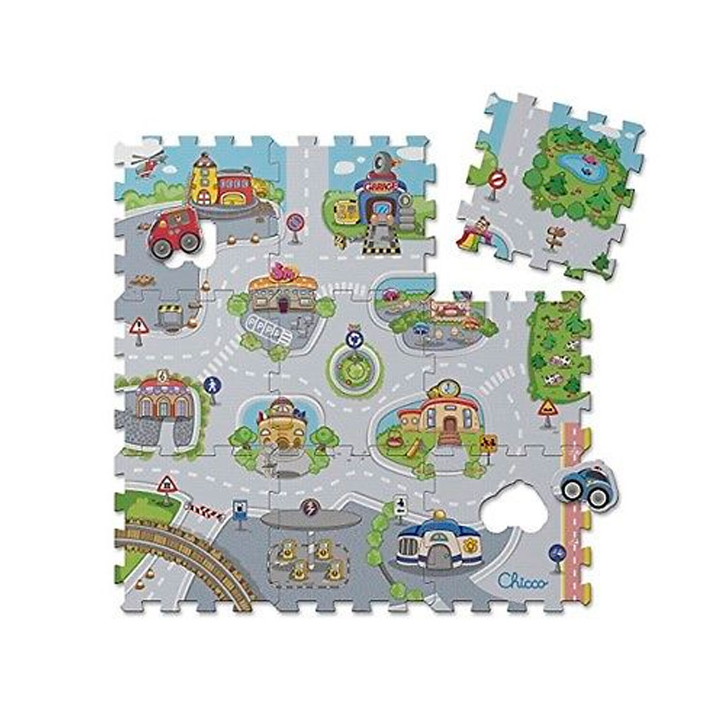 Игрушка пазл городок Chicco (TOY PUZZLE MAT CITY)7163