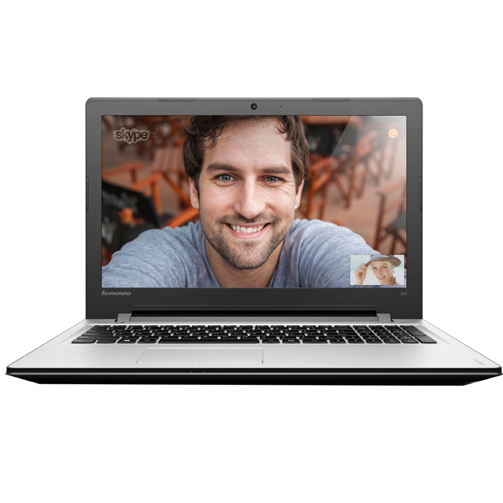 "Lenovo Ideapad 300 Intel N3060 (up to 2.48 GHz), 8GB, 1000GB, Intel Graphics 400, DVD±RW, USB 3.0, 15.6"" LED, WiFi, Dolby, Silver, Eng-Rus"