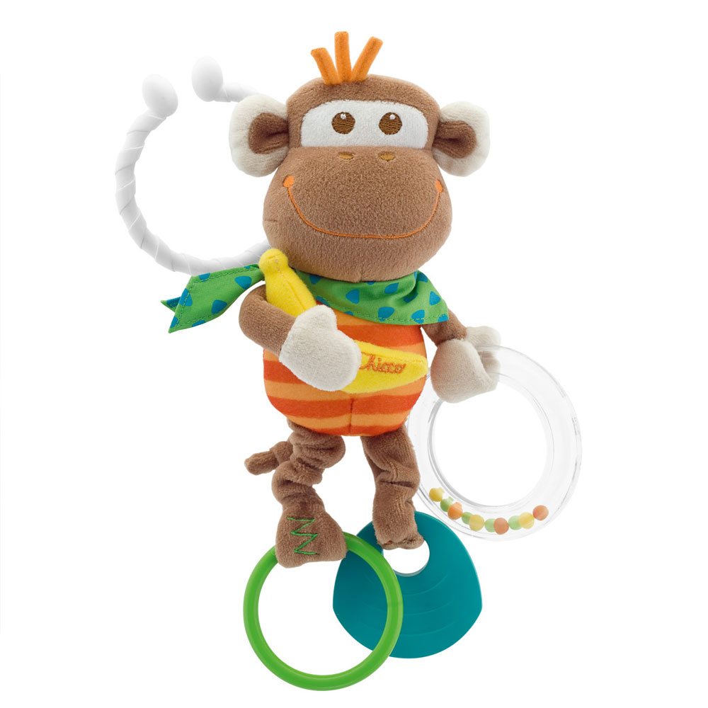 Погремушка Chicco Multi Activity Vibrating Monkey 09070