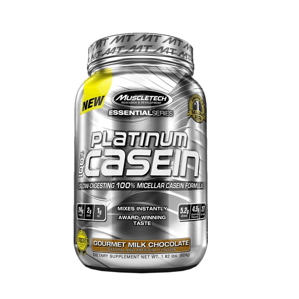 Протеин MuscleTech Platinum 100% Casein 1,8lb gourmet молочный шоколад