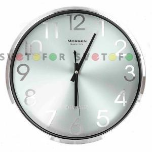 Настенные часы Morgen PW267-4 серебристые