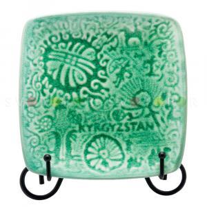 Тарелка Epos Саймалуу-Таш 705013 керамика бирюзовая