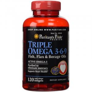 Рыбий жир Puritans Pride Triple Omega 3-6-9 Fish & Flax Oils