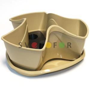 Горшок Prosperplast DKN3001 Coubi кофе