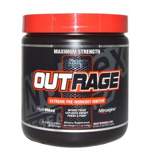 Предтренировочный комплекс Nutrex Research Labs, Outrage, Extreme Pre-Workout Igniter, Watermelon 5.1 oz