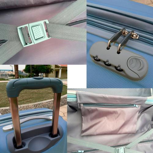 Чемодан Travelcar DS2837-L ABS пластик голубой