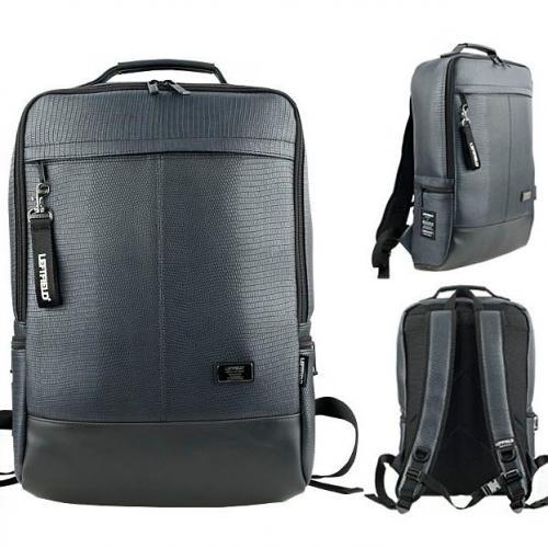 Сумка рюкзак Leftfield v28 из прессованной кожи синий