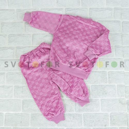 Детская двойка Kids CLUB 895 розовая с выпуклым рисунком для младенцев