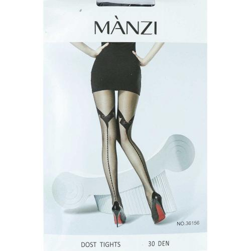 Женские колготки Manzi DOST TIGHTS 36156 Den 30 черные