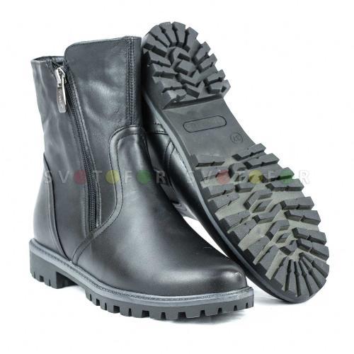 Полусапожки SHOES.KG 1209-12 кожаные черные