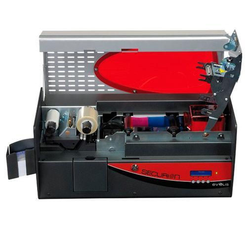 Принтер пластиковых карт Evolis Securion Mag ISO SEC101RBH-B серо-красный