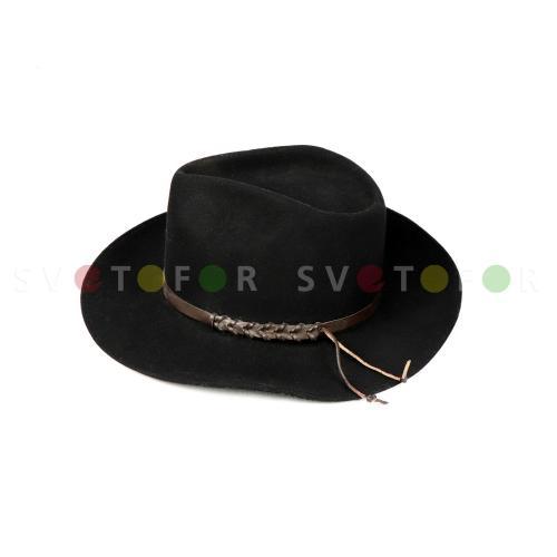 Шляпа Русь Модерн шерсть черная