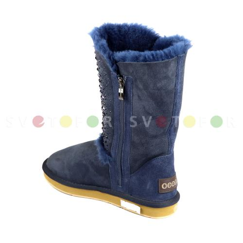 Угги OEEGO 5828-1 замшевые синие