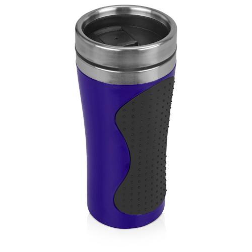 Термокружка «Олимпия», синий/черный, 828452