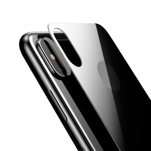 Защитное стекло 4D на заднюю панель для Apple iPhone X черный