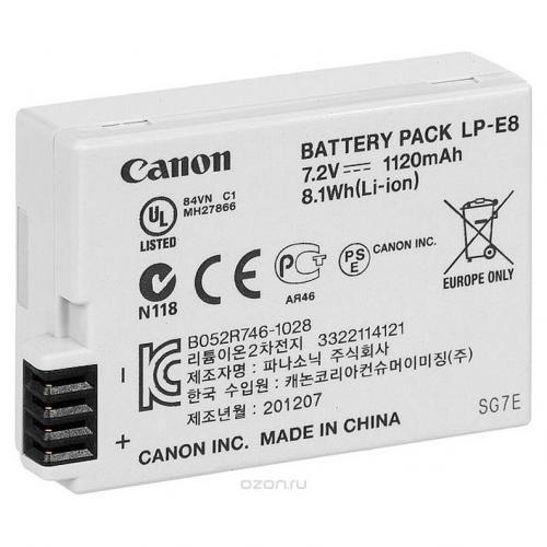 Батарея для фотоаппаратов Canon LP-E8