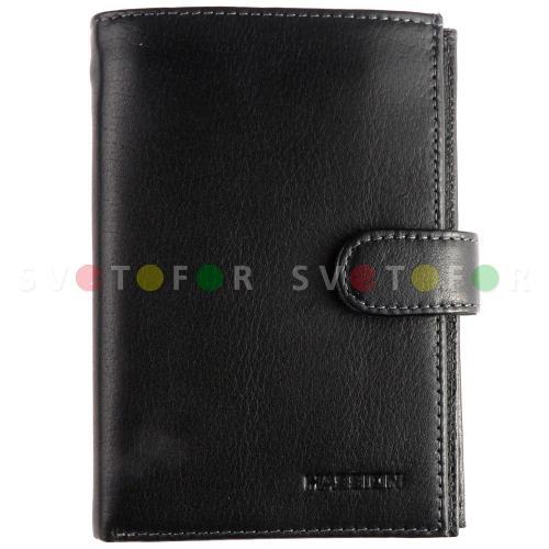 Портмоне HASSION Collection H-006 натуральная кожа черный
