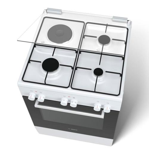 Плита комбинированная Bosch HGD42D120Q белая