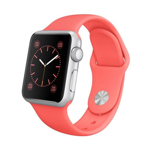 Умные часы Apple Watch Sport mj2w2 Silver Aluminum Case 38mm with Pink Sport Band