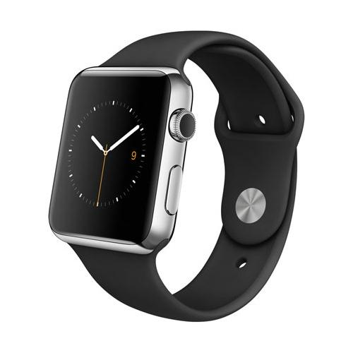 Умные часы Apple Watch mj3u2 Stainless Steel Case 42mm with sport band black