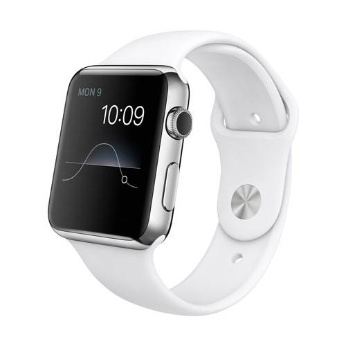 Умные часы Apple Watch mj3v2 Stainless Steel Case 42mm with sport band white