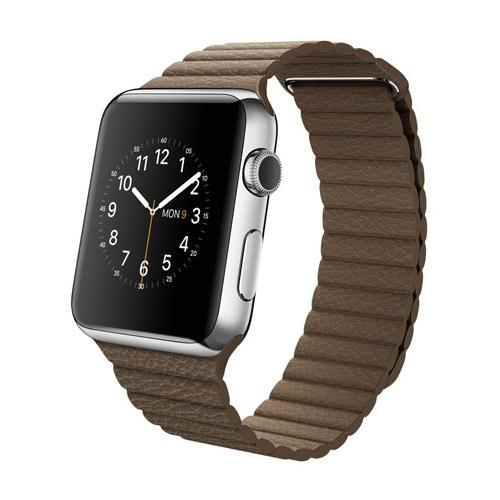 Умные часы Apple Watch mj422 Stainless Steel Case 42mm with Brown Leather Loop