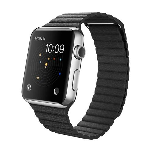 Умные часы Apple Watch mjyn2 Stainless Steel Case 42mm with Black Leather Loop