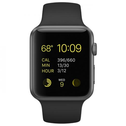 Умные часы Apple Watch mlc82 42mm black sport band