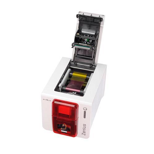 Принтер пластиковых карт Evolis Zenius Expert Smart ZN1H0T00RS красный