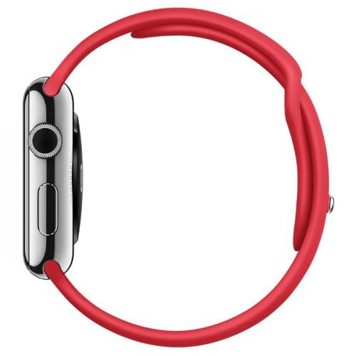 Умные часы Apple Watch mlle2 42mm Stainless Steel Case with red sport band