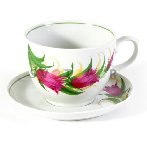 Беларусь фарфор чайная пара 500см3 Колокольчики 0С0168/1Ф34