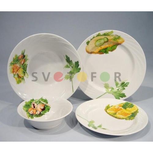 Беларусь фарфор набор посуды 19пр Бутерброды 3С0608Ф34
