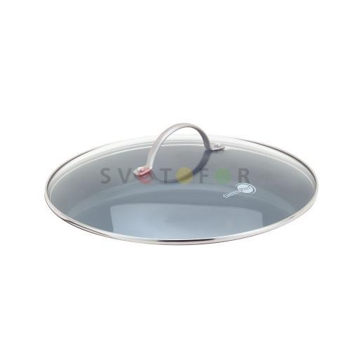 Стеклянная крышка Green Pan с нержавеющей ручкой 24см