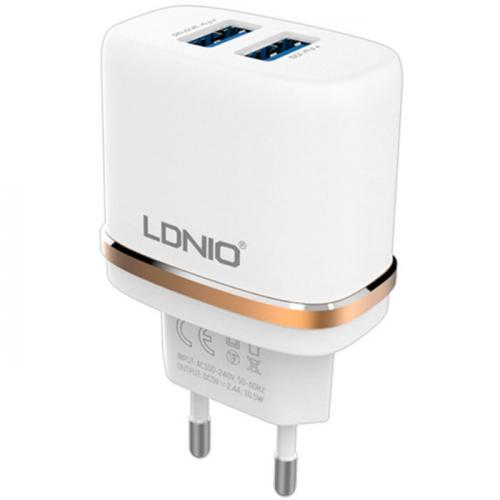 Адаптер LDNIO DL-AC52 AC Adapter with USB slot for S6